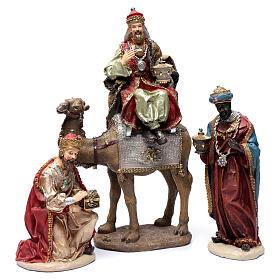 Reyes Magos resina 30 cm y camello s1
