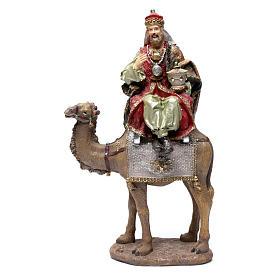 Reyes Magos resina 30 cm y camello s2