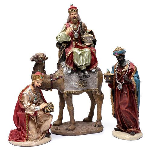 Reyes Magos resina 30 cm y camello 1