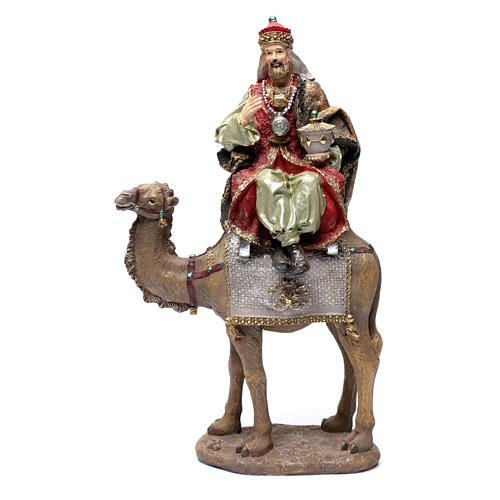 Reyes Magos resina 30 cm y camello 2