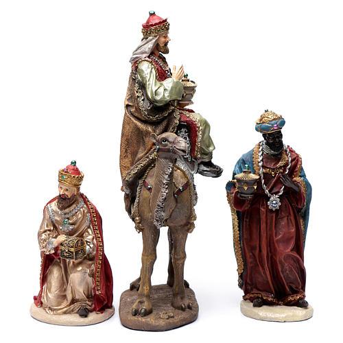 Reyes Magos resina 30 cm y camello 3
