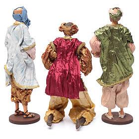 Reyes Magos con dones 35 cm resina y acabados oro s4