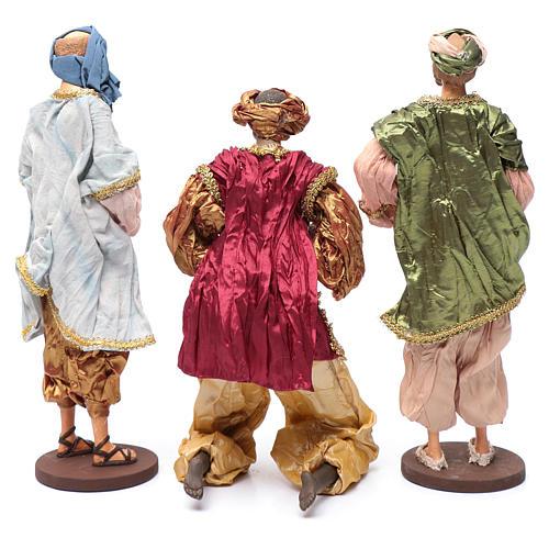 Reyes Magos con dones 35 cm resina y acabados oro 4