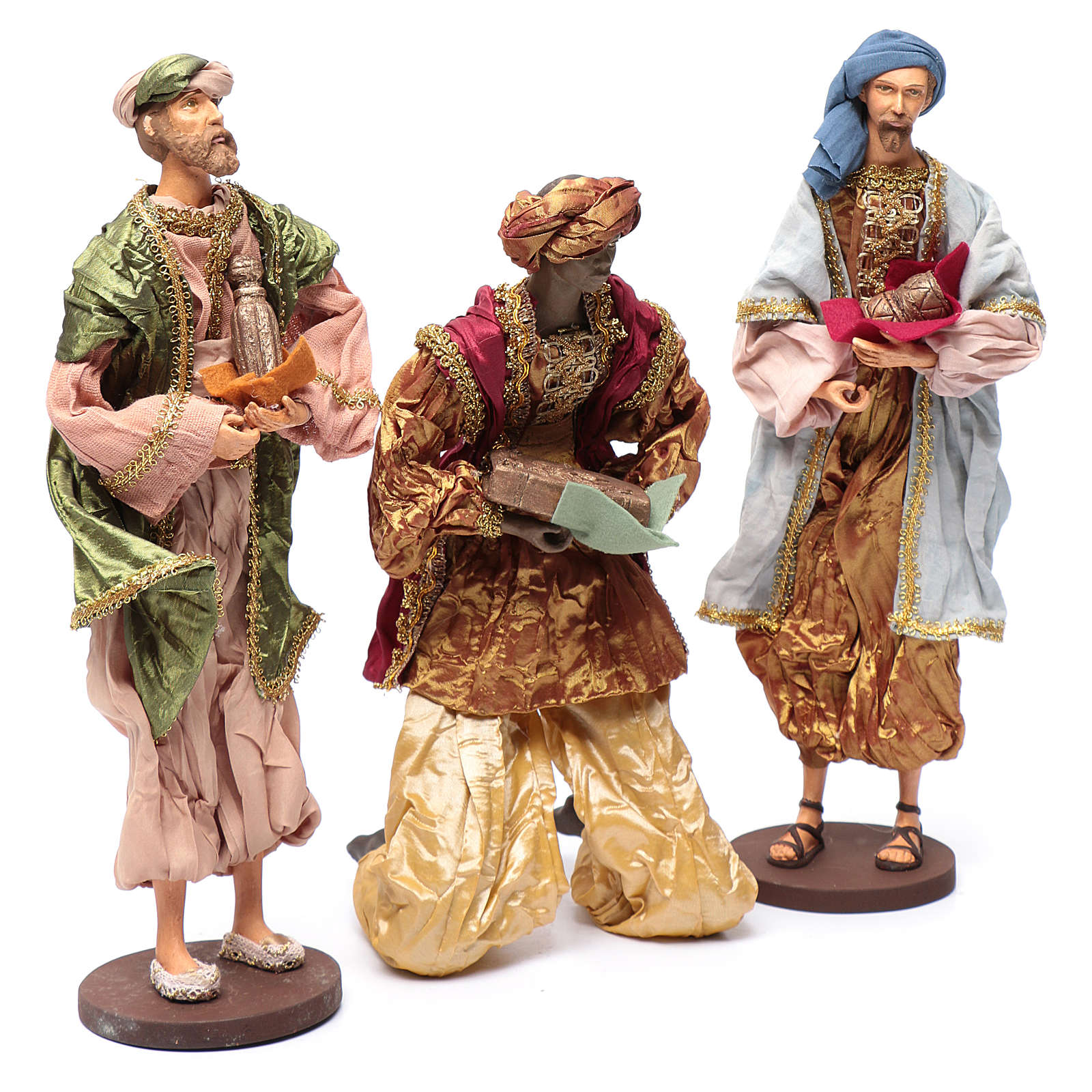The Three Wise men with gifts 35 cm in resin and finished in gold 3