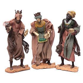 Reyes Magos con camello sentado 28 cm resina y gasa s2