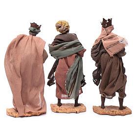 Reyes Magos con camello sentado 28 cm resina y gasa s5