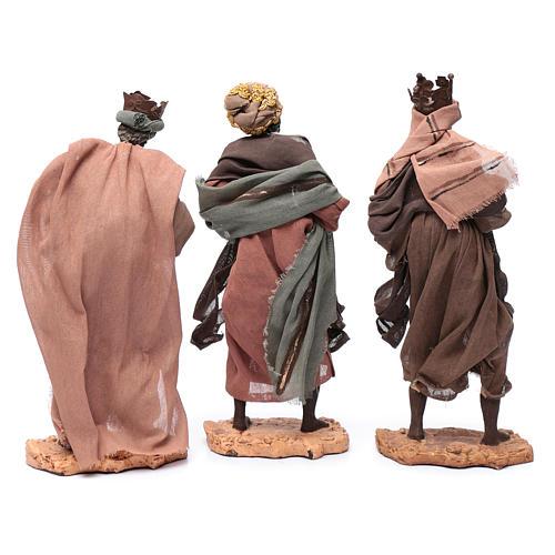 Reyes Magos con camello sentado 28 cm resina y gasa 5