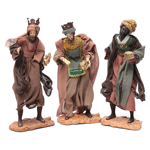 Nativity scene statue The Three Wise Men with camel sitting 28 cm gauze and resin 2