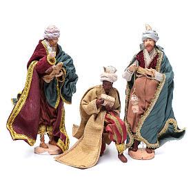 Nativity scene statues Three Wise Men 3 pieces 30 cm fabric s1