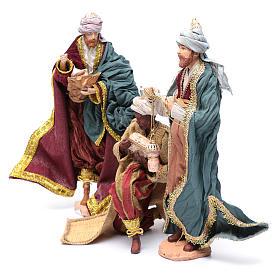 Nativity scene statues Three Wise Men 3 pieces 30 cm fabric s2