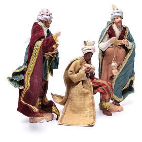 Nativity scene statues Three Wise Men 3 pieces 30 cm fabric s3