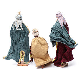 Nativity scene statues Three Wise Men 3 pieces 30 cm fabric s4