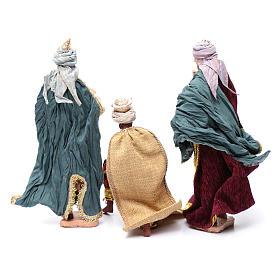 Reyes Magos 3 piezas resina 30 cm y tela s4