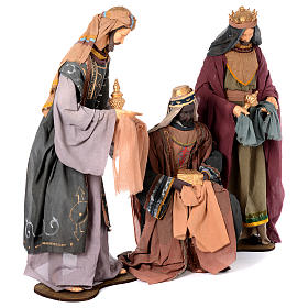 Nativity scene statues Three Wise Men 120 cm purple fabric with green side s3