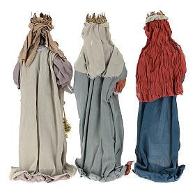 Drei Heilige Könige Harz und Stoff 85cm Shabby Chic s5