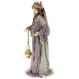 Nativity scene statues Three Wise Men 85 cm in resin and gauze country style s3
