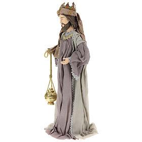 Reyes Magos 85 cm resina y tela estilo country s3