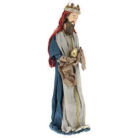 Reyes Magos 85 cm resina y tela estilo country s4