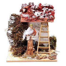 Presépio Moranduzzo: Amolador com movimento para presépio Moranduzzo estilo napolitano  com peças de 10 cm altura média