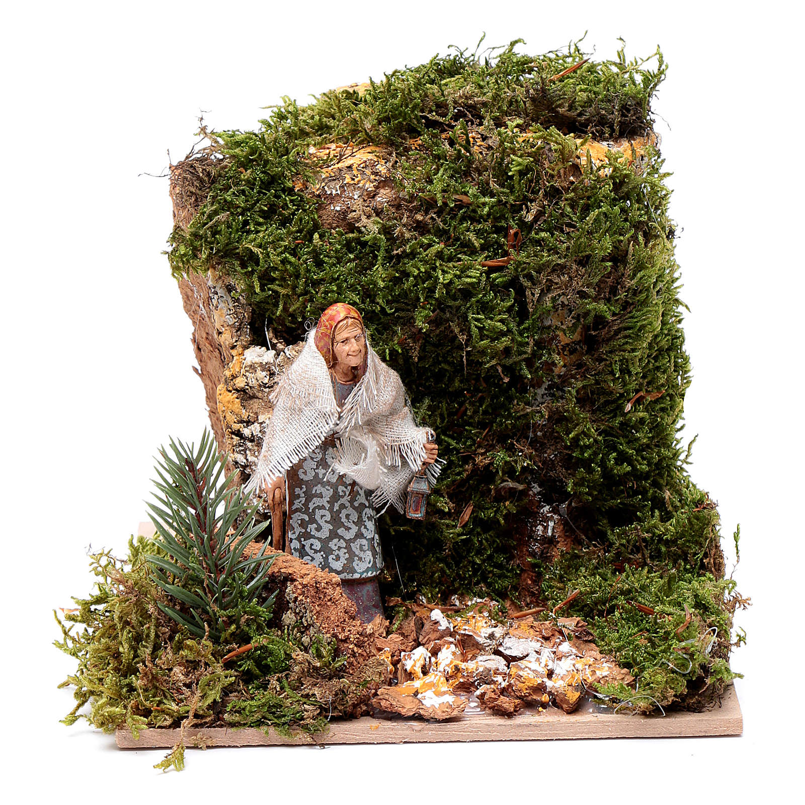 Donna con lanterna  10 cm in Movimento Moranduzzo 4