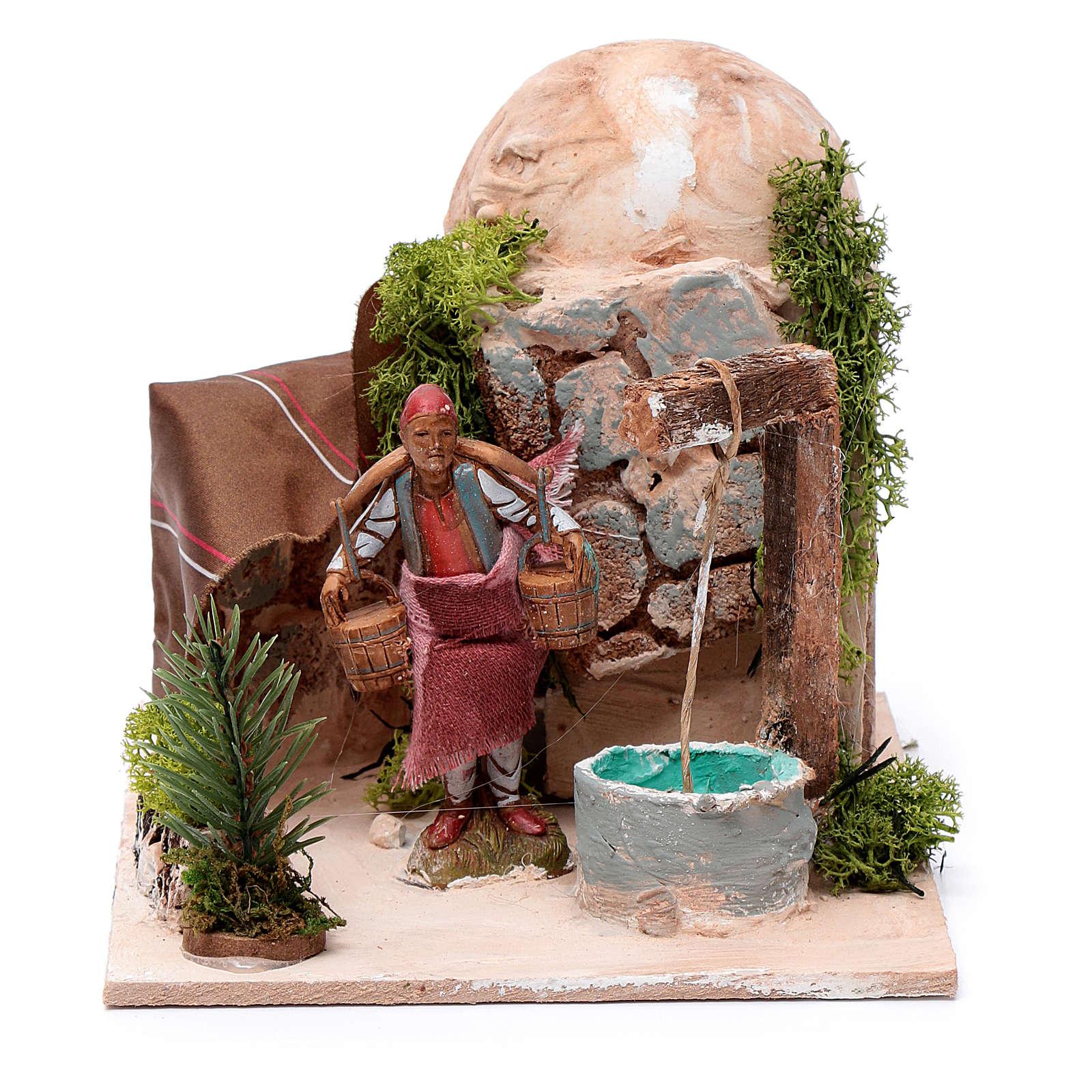 Mężczyzna przy studni 10 cm ruchoma figurka Moranduzzo 4