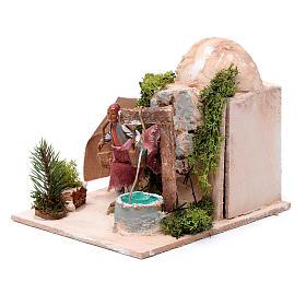Mężczyzna przy studni 10 cm ruchoma figurka Moranduzzo s2