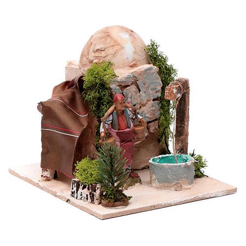 Mężczyzna przy studni 10 cm ruchoma figurka Moranduzzo 3