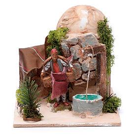 Presépio Moranduzzo: Homem buscando água no poço 10 cm movimento Moranduzzo
