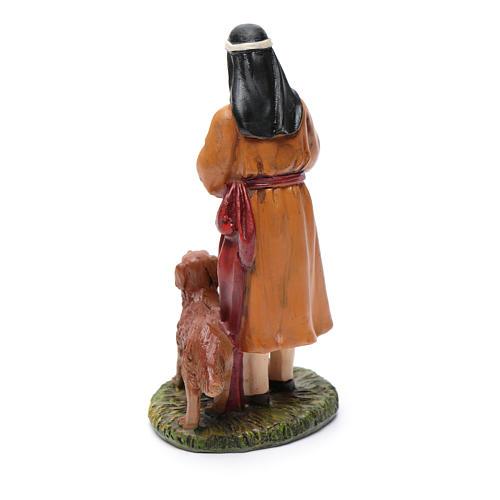 Pastore con cane resina presepe 12 cm Linea Martino Landi 2