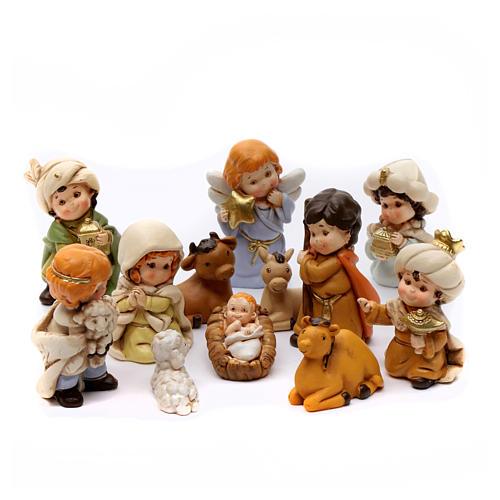 Belén personajes 12 piezas de resina 7 cm 6
