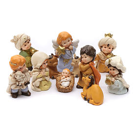 Nativity scene characters 12 pieces in resin 7 cm s1