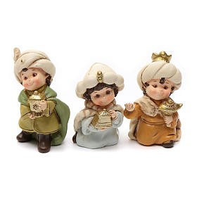 Nativity scene characters 12 pieces in resin 7 cm s8