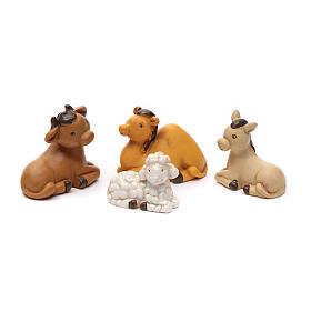 Nativity scene characters 12 pieces in resin 7 cm s10