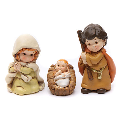Nativity scene characters 12 pieces in resin 7 cm 2