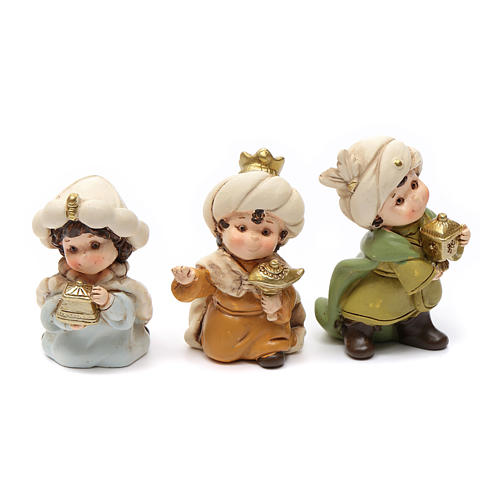 Nativity scene characters 12 pieces in resin 7 cm 3