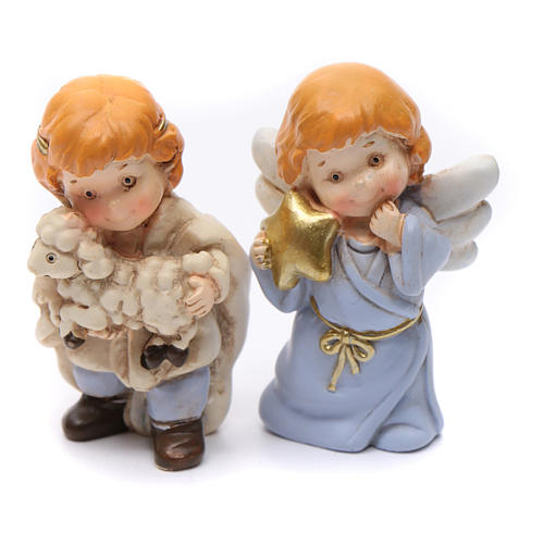 Nativity scene characters 12 pieces in resin 7 cm 4