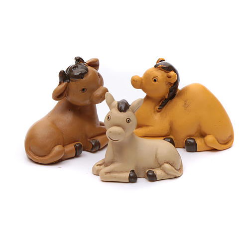 Nativity scene characters 12 pieces in resin 7 cm 5