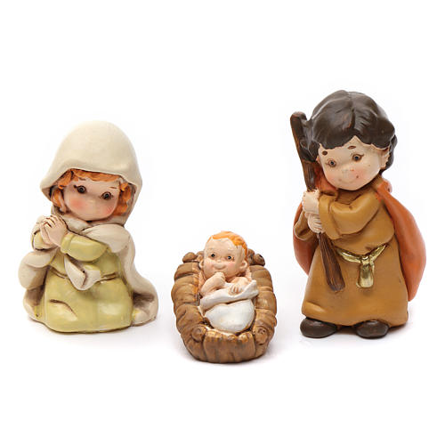 Nativity scene characters 12 pieces in resin 7 cm 7