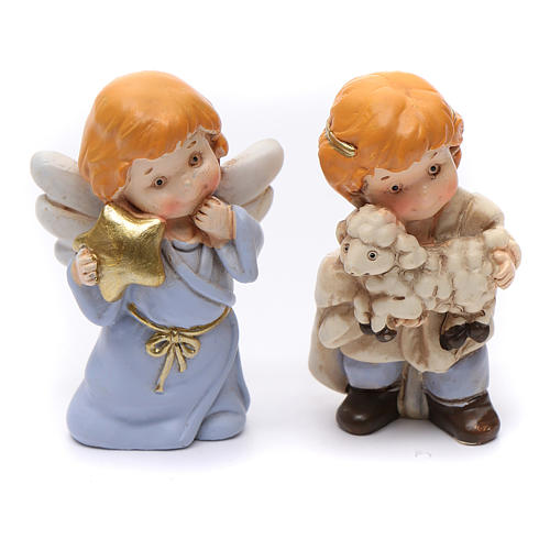 Nativity scene characters 12 pieces in resin 7 cm 9