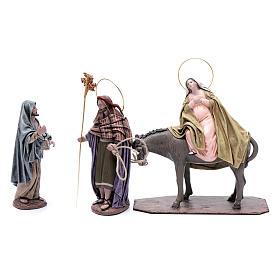 Statue Maria e Giuseppe in cerca alloggio 18 cm s1