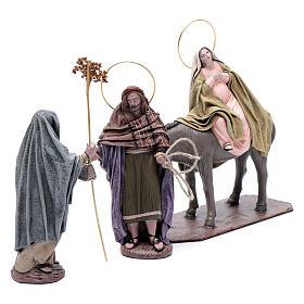 Statue Maria e Giuseppe in cerca alloggio 18 cm s3