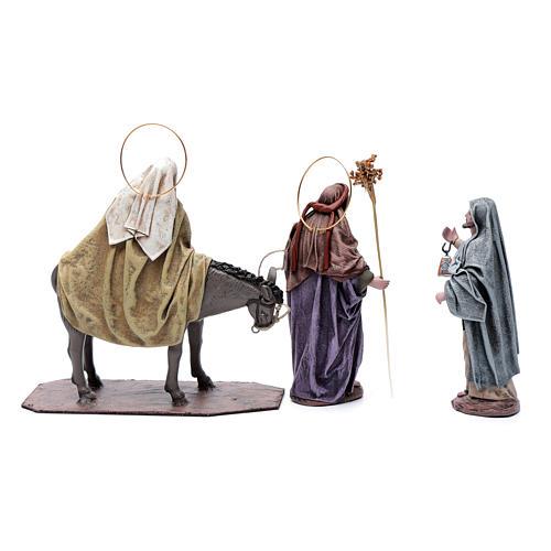 Statue Maria e Giuseppe in cerca alloggio 18 cm 4