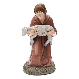 Statua pastore in ginocchio Martino Landi per presepe 50 cm s1