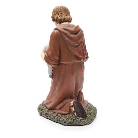 Statua pastore in ginocchio Martino Landi per presepe 50 cm s3
