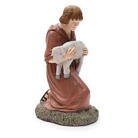 Statua pastore in ginocchio Martino Landi per presepe 50 cm s4