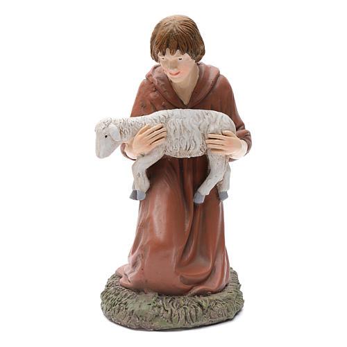 Statua pastore in ginocchio Martino Landi per presepe 50 cm 1