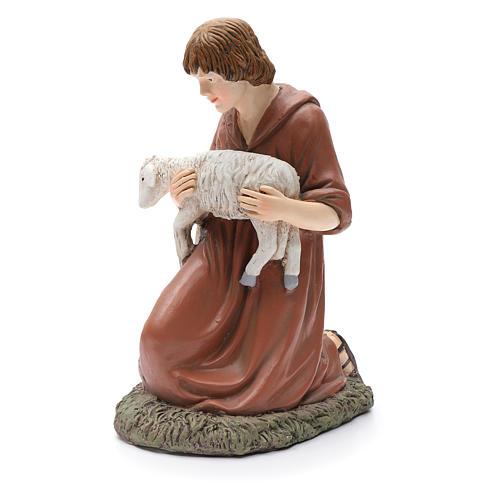 Statua pastore in ginocchio Martino Landi per presepe 50 cm 2