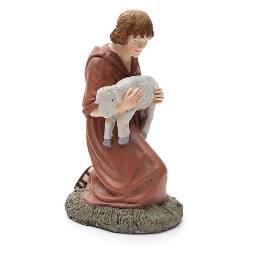 Statua pastore in ginocchio Martino Landi per presepe 50 cm 4