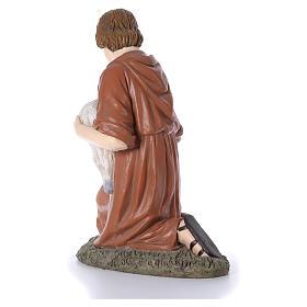 Statua pastore in ginocchio Martino Landi per presepe 120 cm s3