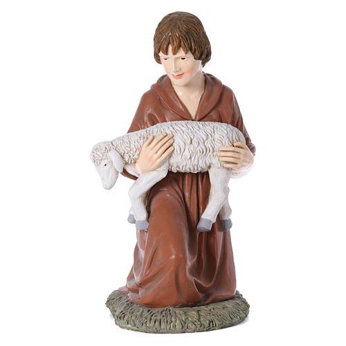 Statua pastore in ginocchio Martino Landi per presepe 120 cm 1